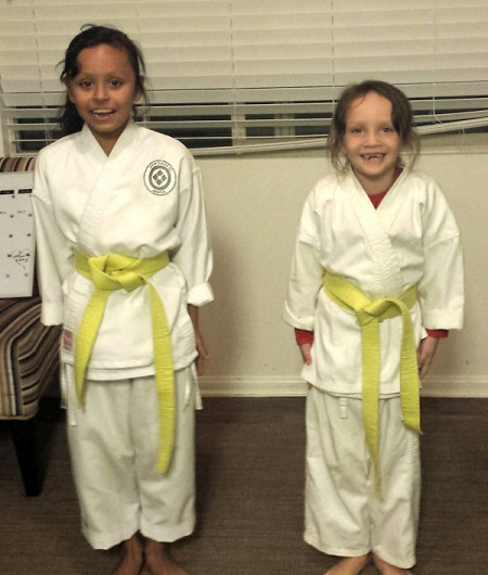 Fullerton Rotary Club&#8217;s Scholastic Scholarship<br> Gives Sisters the Gift of Karate